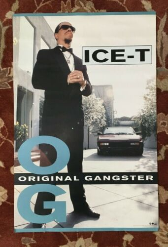 ICE-T  Original Gangster  rare original promotional poster from 1991