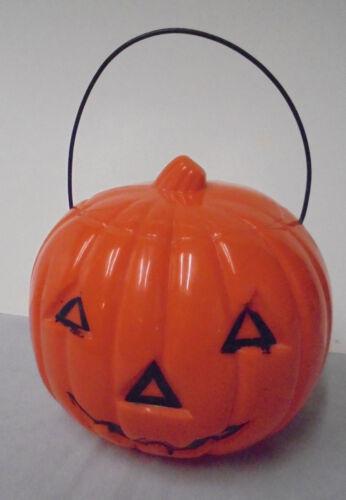 "Halloween, Jack-O-Lantern, Hard Plastic, Union Made U.S.A., 5.75"" Tall Vintage"