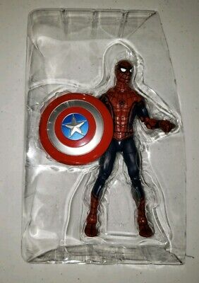 Unused Marvel Legends Civil War SPIDER-MAN with Captain America's Shield