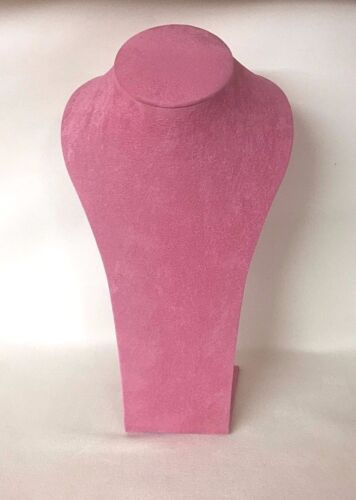 Large 26 cm Jewellery Display Necklace Bust (Orchid Pink) *Made in the UK*