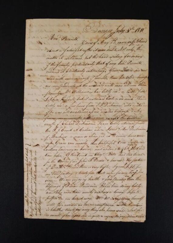 1811 William Williamson Handwritten Free Frank Letter ~ 2nd Governor of Maine
