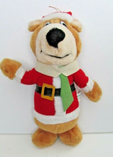 Nanco Yogi Bear  Hanna Barbera Santa Plush Christmas vintage