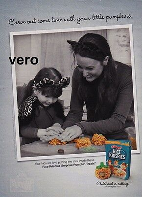 KELLOGG 2012 RICE KRISPIES cereal magazine print ad page advert pumpkin treats (Rice Krispies Pumpkin Treats)
