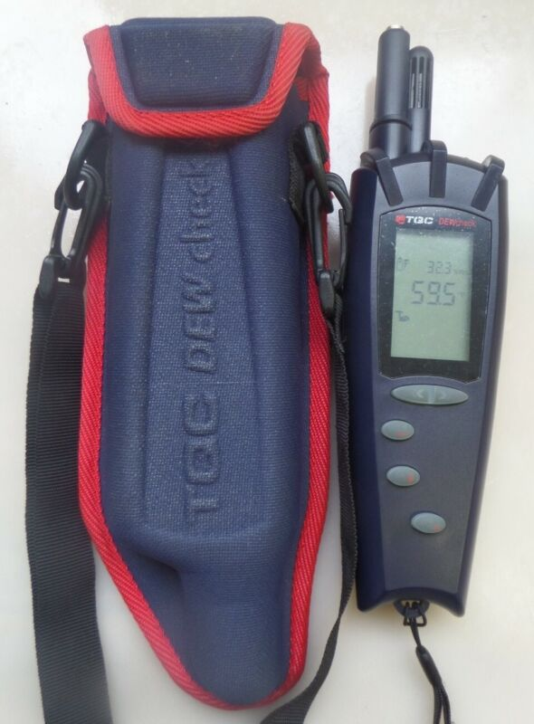 TQC DEWcheck Dew Point Meter with Carrying Case