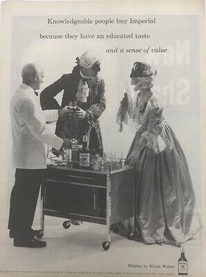 Hiram Walker Imperial Whiskey Costume Vintage Liquor Alcohol Drink 1960 Mask