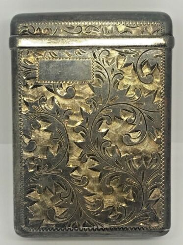 VINTAGE 950 SILVER  CIGARETTE PACK CASE~~VERY ORNATE ENGRAVING~~LOTS TARNISH