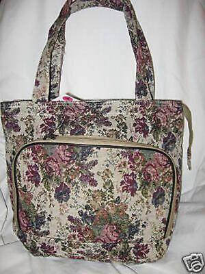 Designer inspired purse tote handbag tapestry book Bag new ()