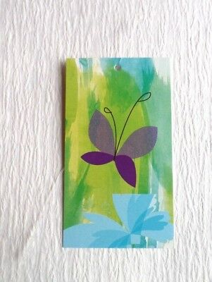 100 Clothing Tags Fashion Tags Price Tags Purple Butterfly W 100 Plastic Loops