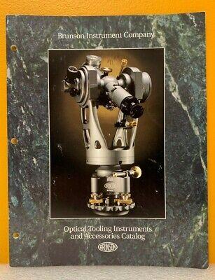 Brunson Instrument Company Optical Tooling Instruments Accesssories Catalog.