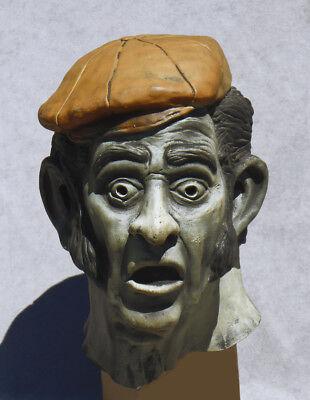 1977 Don Post Halloween Mask DISNEYLAND Haunted Mansion Gravedigger GLOWS n DARK - 1977 Halloween Costumes