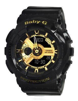 Casio BA110-1A Baby G shock Gold Black Women Watch NEW