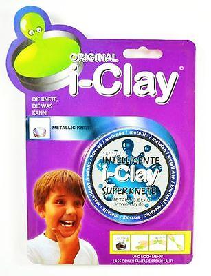 i-Clay Intelligente Superknete metallic Blau im Blister Hüpfknete Magie Knet OVP online kaufen