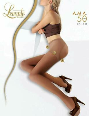 Calze Collant Donna LEVANTE A.M.A. 50 Denari, Avvolgente, Modellante, Push Up