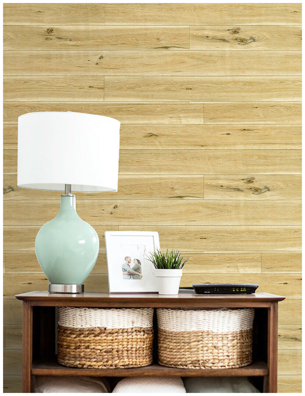 Self Adhesive Wood Plank Wallpaper