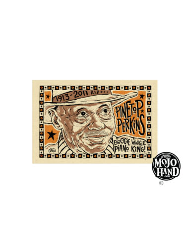 Pinetop Perkins Blues poster from Mojohand - free US Shipping!