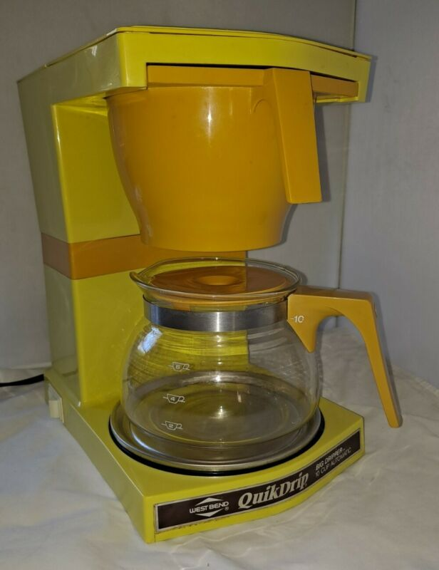 Rate Vintage West Bend Quik Drip Coffee Maker 10 Cup  Yellow / Gold