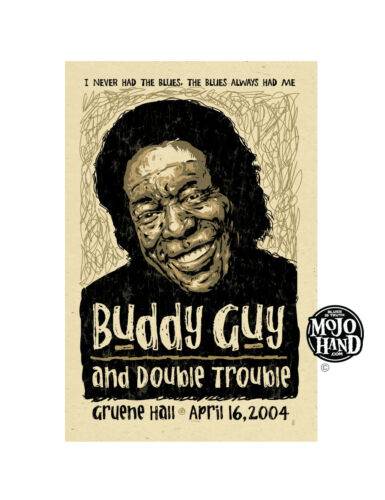 Original Buddy Guy Blues concert poster from Mojohand - free US Shipping!