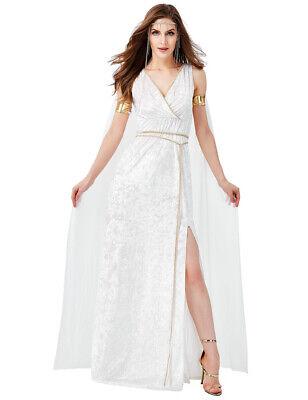 Greek Goddess Dresses (Women's Greek Goddess Costume Halloween Sexy Grecian Princess Deep V)