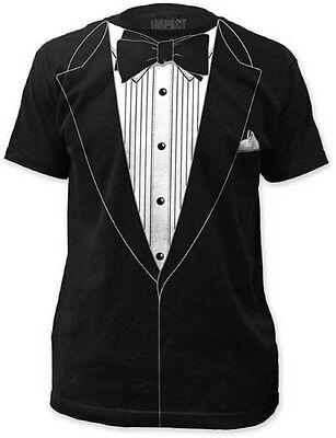 Costume Black Adult T-shirt - Original Retro Tuxedo Adult T-shirt - Prom Wedding Groom Funny Costume Outfit T