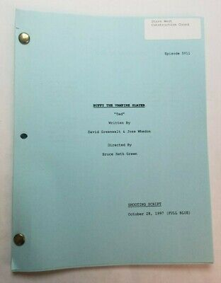 BUFFY THE VAMPIRE SLAYER / 1997 TV Script SARAH MICHELLE GELLAR & David Boreanaz