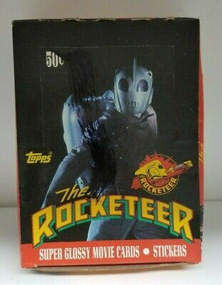 Rocketeer Movie Topps 1991 Collectible Wax Trading Card Pack Box Rare Vintage