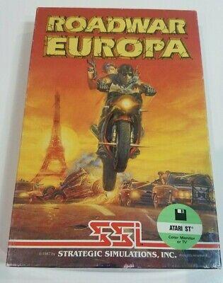 Atari RoadWar Europa ST Vintage Computer Video Game Disk Box Manual Road War