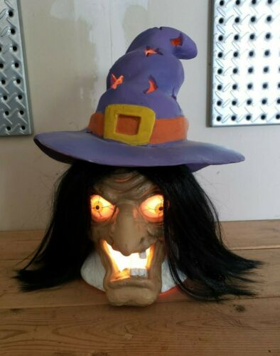 1993 Trendmasters Ugly Creepy Scary Wicked Witch Halloween LIGHT Party Prop