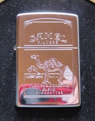 ZIPPO RARE COLLACTABLE TWO SIDED CAMEL CIG LIGHTER IN CAMEL/ZIPPO TIN
