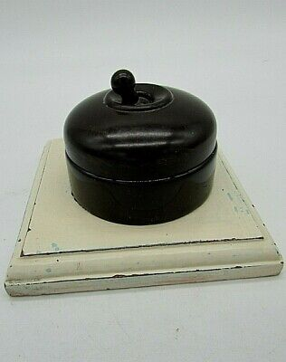 Vintage, Crabtree Bakelite & Vitreous light switch, Re claimed used condition.