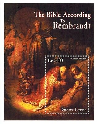 MODERN GEMS - Sierra Leone - The Bible According to Rembrandt - S/S - MNH