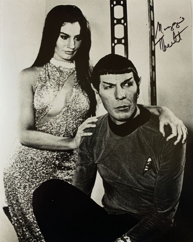 MAGGIE THRETT HAND SIGNED 8x10 PHOTO STAR TREK AUTOGRAPHED AUTHENTIC RARE