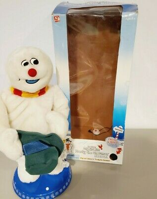 Gemmy Animated Frosty The Snowman Snowflake Spinning Singing Dancing