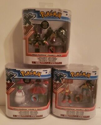 NEW - Pokemon XY Mega Pokemon Figure 2 Pack - Lot Of 3 Brand New Sealed!!!