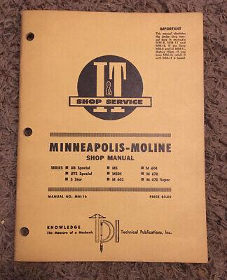 1966 Minneapolis Moline Tractor Series Ub Uts M5 5 Star M 670 Shop Manual Mm-16