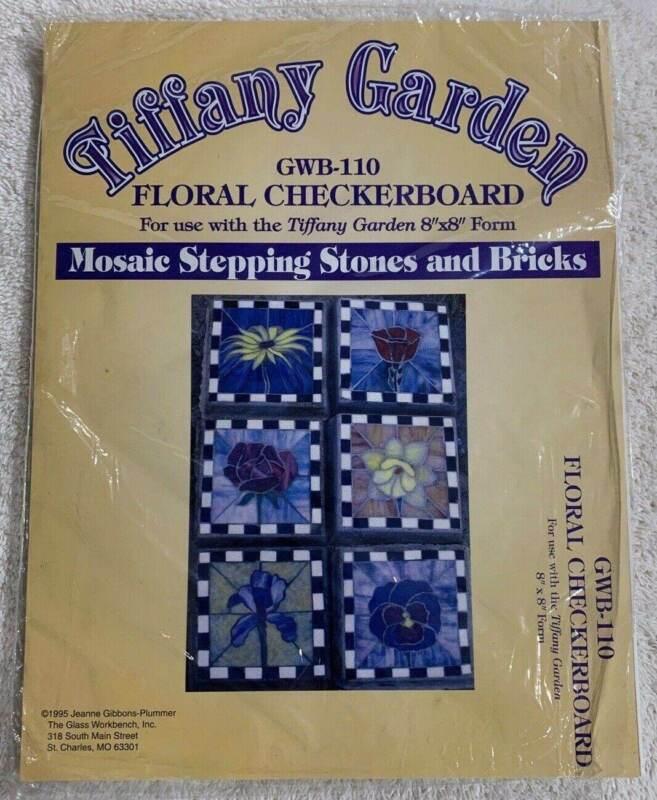 Tiffany Garden Mosaic Stepping Stones Pattern Floral Checkerboard GWB-110