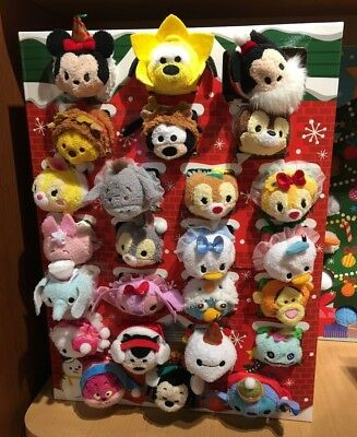 Japan Disney Store Exclusive Tsum Tsum Christmas Advent Calendar Set 2016