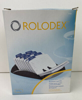 New Rolodex Business Office Card File Black 250 Cards Index Tabs Sanford Refills