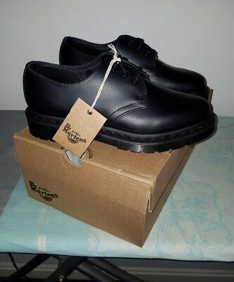 Dr.Martens 1461 3-Eyelet Mono Smooth Black leather unisex Shoes uk 5 eu 38