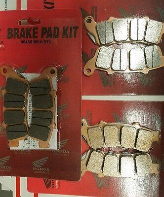 GENUINE HONDA COMPLETE BRAKE PAD SET FRONT & REAR GOLDWING GL1800 & F6B