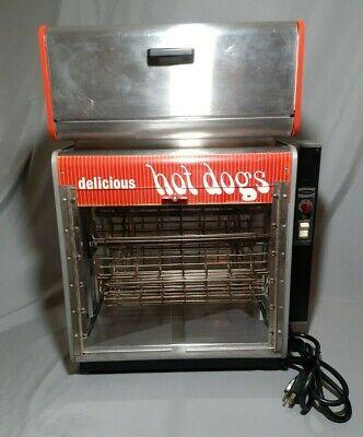 Vintage Star Stainless Steel Hot Dog Steamer Warmer Roller Broiler Model 175h.