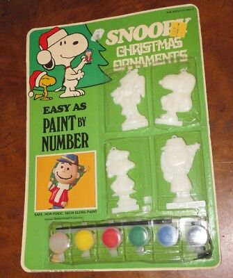 Used, Vtg Peanuts SNOOPY Christmas Ornaments PAINT BY NUMBER Charlie Brown Lucy (Q83) for sale  North Royalton