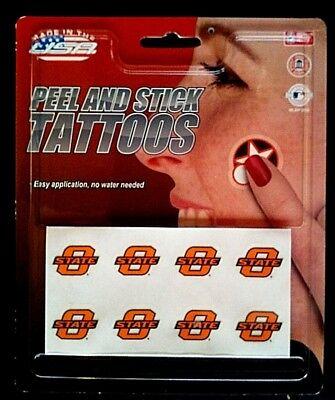 - New! Oklahoma State Cowboys, Peel & Stick (8) Temporary Tattoo Pack by Rico