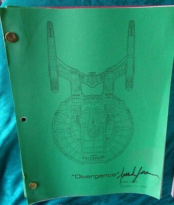 Star Trek Enterprise Stage Used Crew Script Divergence