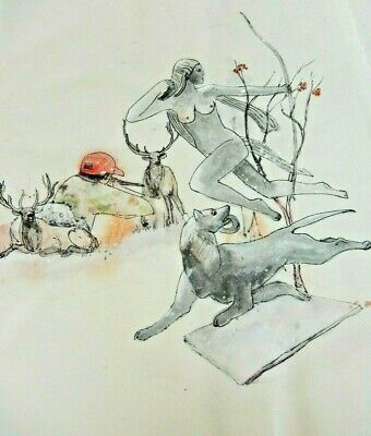 debbi saccomanno Chan Hand Painted Folding Painting Album Hunting Album 24 x 17