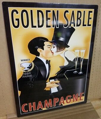 Golden Sable Champagne Vintage Ad Metal Sign Bar Kitchen Decor