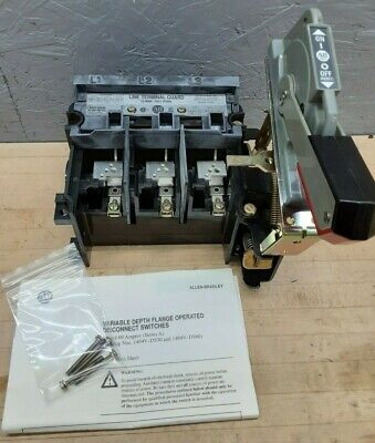 Allen Bradley 1494v-ds30 Ser A Disconnect Switch Kit 30amp 600vac 250dc Whandle