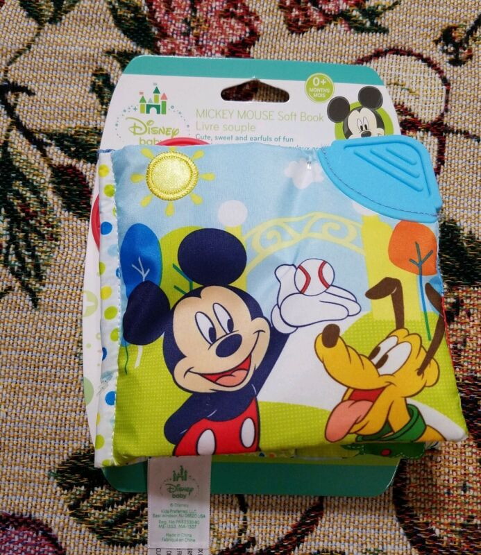 Disney Baby -  MICKEY MOUSE ACTIVITY SOFT STORYBOOK NEW TOY