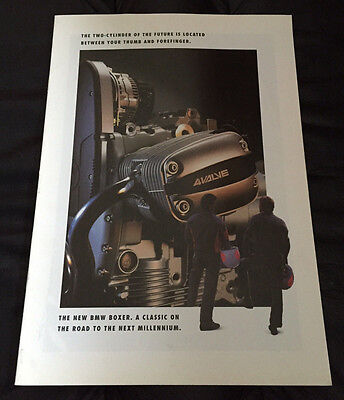 1993 Original BMW Motorrad Boxer Motorcycle Dealer Sales Brochure