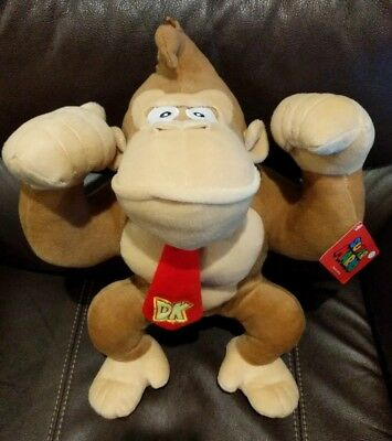 "Nintendo Super Mario Brothers DONKEY KONG Plush Toy Doll 17"" Large with Tags"