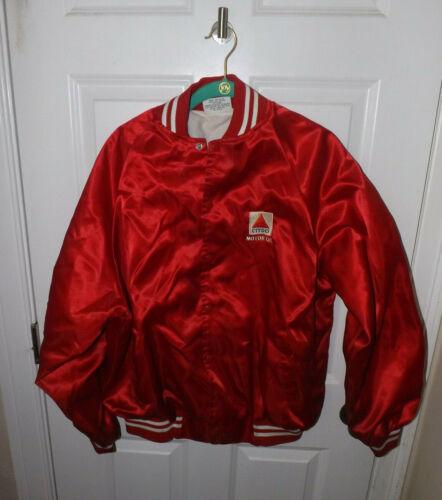 Citgo Motor Oil Promotional Jacket 1970s Size Large satin Style used damaged